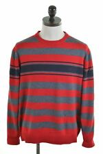 DANIEL HECHTER Mens Crew Neck Jumper Sweater XL Red Cotton  FO14