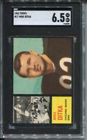 1962 Topps Football #17 Mike Ditka Rookie Card RC Graded SGC Ex Mint+ 6.5 Bears