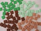100 x Edible MINECRAFT Squares Green & Brown Mine Craft CUPCAKE Cake TOPPERS