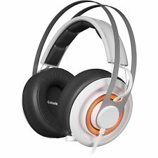 SteelSeries Siberia Elite Prism Gaming Stereo Headset, Artic White, 51190 PC/MAC