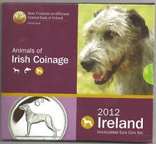 KMS, original Eurokursmünzensatz 2012 aus Irland, stempelglanz, Irische Tiere