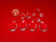 alte Lampe Hängelampe Deckenlampe Lüster Glas Kristall Ersatzteile