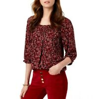 MICHAEL KORS NEW Women's Bandana Scoop Neck Peasant Blouse Shirt Top TEDO