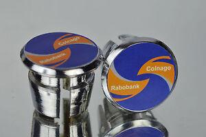 New Colnago team Rabobank Handlebar End Plugs Bar Caps endstopfen lenkerstopfen