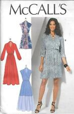 UNCUT McCall's sewing pattern ladies 7534 wrap bodice dress sleeve variations FF
