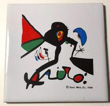 Joan Miró Vintage Art Print on Ceramic Tile Coaster 1999
