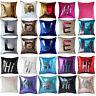 "EG_ 16"" Magic Mermaid Pillow Case Reversible Sequin Glitter Sofa Cushion Cover T"