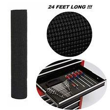 """Tool Box Liner Non Slip Lining Drawer Padded Shelf Foam Rubber Roll 288"""" Black"""