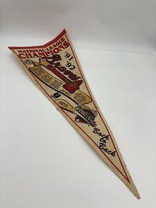 Atlanta Braves 1991 1992 National League Champions World Series Pennant Flag
