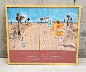 Original 1986 David Hockney PEARLBLOSSOM HIGHWAY Exhibition Poster