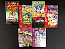 Lot Sonic the Hedgehog Game Manuals SEGA Game Gear, Genesis; Chaos, Spinball +