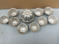 aluminium vintage 'Helpmate' 10 piece blancmange & jelly mould Lot E170519M