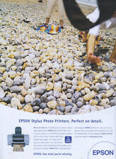 "Epson Stylus Photo Printer ""Perfect On Detail"" 2001 Magazine Advert #1232"