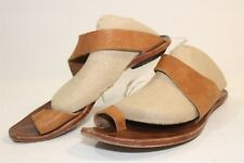 Cydwoq USA Made 38 8 Brown Leather Sandals Toe Strap Slides Flats Shoes gj