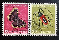 Schweiz Pro Juventute  1953 Zusammendruck Mi. W 25 gestempelt/o