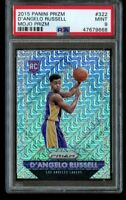 2015-16 Panini Prizm D'Angelo Russell /25 Mojo Rookie PSA 9 Mint #322 RC