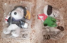 McDonald's Many Lives Of Snoopy Toys x2 In Packaging