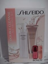 SHISEIDO DOUBLE CLEANSE AGE-DEFYING SET Cleasing oil +  Foam + Lifydynamic Serum
