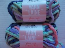 Needle Crafters Fleece Soft bulky yarn, Pastels, lot of 2 (22 yds ea)