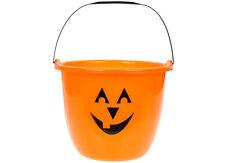 Jumbo Naranja Calabaza Halloween CANDY Cubo Truco O TRATO Diversión Grande Gran