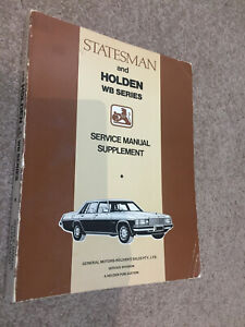 WB Statesman & Holden Service Manual Supplement