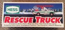 1994 Hess Truck - HESS Rescue Truck With Sirens and Lights New in Box