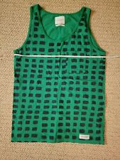 Saturdays NYC Surf Turtle Shell Green Tank Top Men's M Medium Pocket