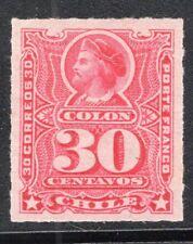 CHILE 1899 STAMP # 33 MH RULETEADO COLUMBUS