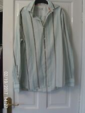 BLUE AND GREY LONG  SLEEVED SHIRT, SIZE SMALL