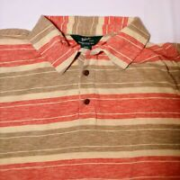 Men's Woolrich Short Sleeve Polo Shirt Size XL vintage striped made in USA