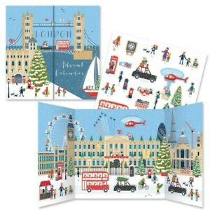 London Advent Scene Calendar With 24 Slot In Characters - Reuseable