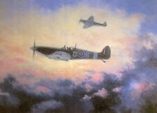 Douglas Bader Royal Air Force  Spitfire 2nd world war Ace Pilot RAF blank card