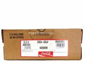 Coke Classic Soda Syrup Concentrate 2.5 Gallon Bag in Box
