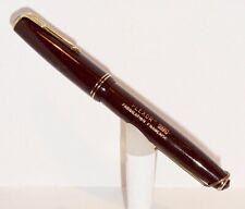PLEXOR (Parker) 26BL Fountain Pen D.J. DARK BROWN BUTTON-FILLER, 18ct gold nib