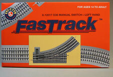 LIONEL FASTRACK SWITCH LEFT HAND train fas track turn out section 6-12017 NEW
