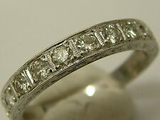 VINTAGE QUALITY 18CT WHITE GOLD DIAMONDS 3/4 ETERNITY RING - OVER 0.50 CARATS