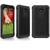 LG G2 Ballistic SG Shell Gel Hard Case Cover Skin Black T-Moblie AT&T Sprint