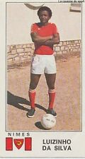 N°243 LUIZINHO DA SILVA # BRAZIL NIMES OLYMPIQUE PANINI FOOTBALL 77 STICKER 1977