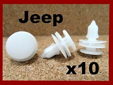10 JEEP Chrysler door trim fascia panel push type fastener retainer clip