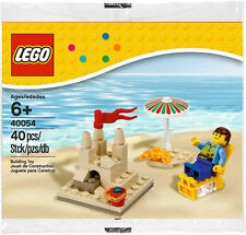 LEGO Seasonal Summer Scene 40054 - New in Sealed PolyBag - Sandcastle Beach