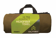 Large MicroNet Backpacking Camping Microfiber Towel by McNett Coyote Brown