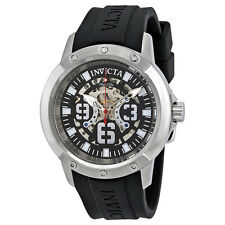 Invicta Objet D Art Automatic Black Skeleton Dial Mens Watch 22629