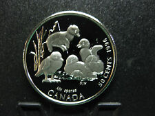 1996 Little Wild Ones - Canada Silver 50 Cent Coin - Wood Duck - Toned/Prints