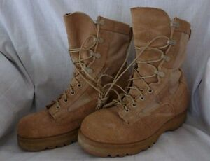 Military ICW GORE-TEX Temperate COLD/WET BOOTS 5 XW Vibram Sole Tan USED #122