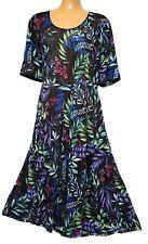 TS dress TAKING SHAPE VIRTU plus sz S / 16 Deep Sea Dress crushed A-line
