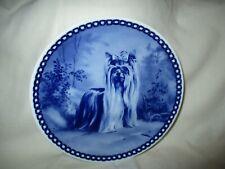 New listing Tove Svendsen Denmark Blue Plate Yorkshire Terrier dog Hunde platte Yorkie