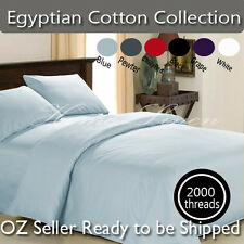 2000TC Deluxe SOFT Pure Cotton Sheet Set / Pillowcases-Spoil yourself