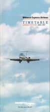 Midwest Express Airlines system timetable 6/1/92 [5112] (buy 4+ save 50%)