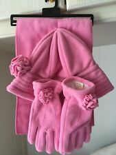 Pink Hat, Gloves And Scarf Set Brand New