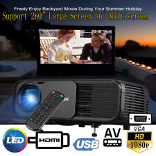 CL760 3200 Lumens 1080P HD 3D LED Projector Home Theater Cinema USB HDMI VGA AV